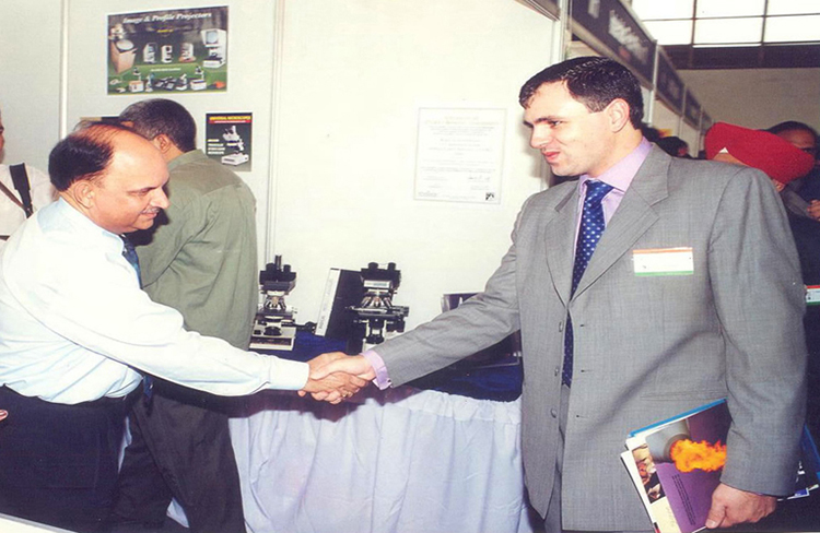 Our Hon'able Chief Minister Sh. Omar Abdullah (J & K) is with our CEO Mr. Ranjit Singh during Vintage in EGYPT during September 2000