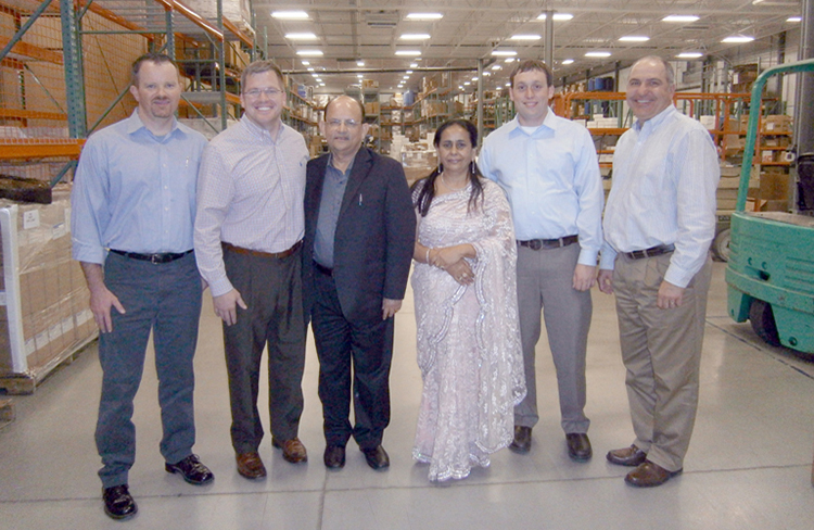 Our Chairperson visiting a factory in USA